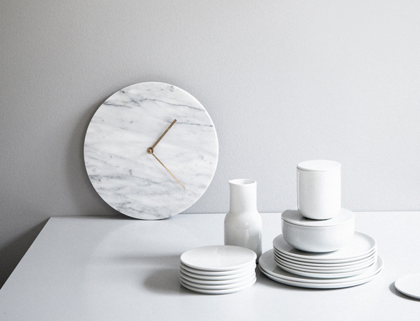 Marble Wall Clock, Chunk of Marble Candle Holder and On The Rock