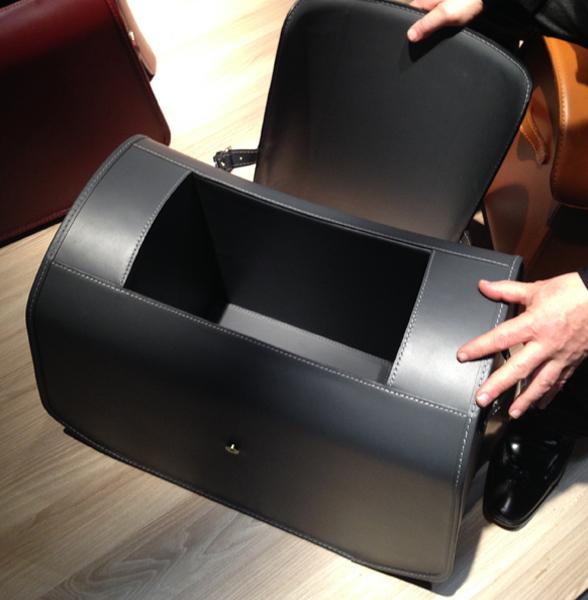 Zanotta's Nuno leather boxes