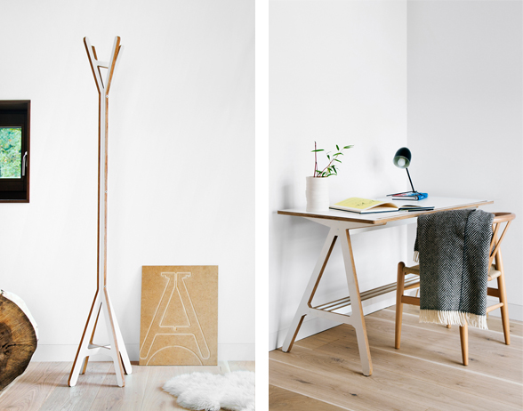 A Coat Stand & A Table