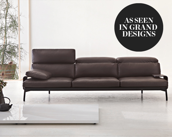 Cassina 288 Sled Three Seater Sofa