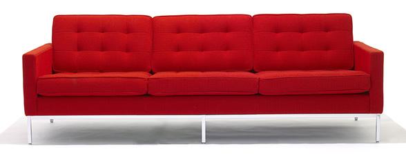 Florence Knoll Three Seater Sofa