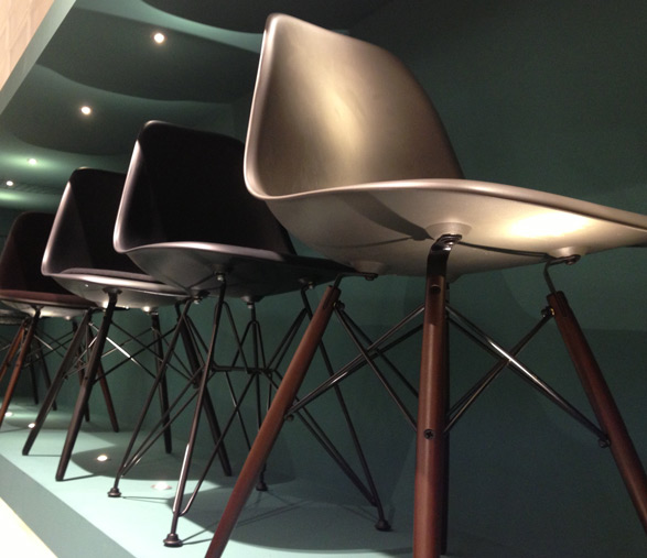 Vitra dark chair bases
