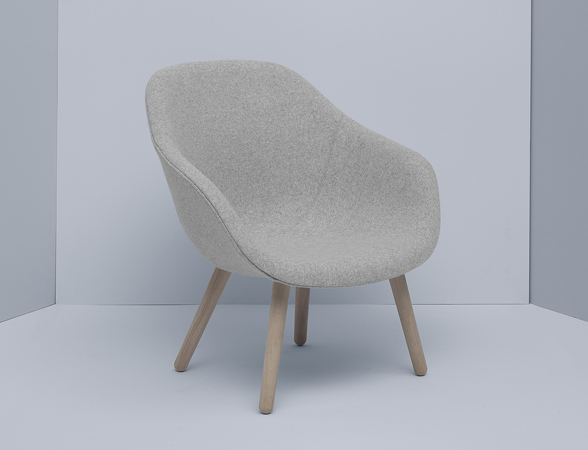 Hay About a Lounge Chair Low AAL82 – 4 Leg Base in Light Grey