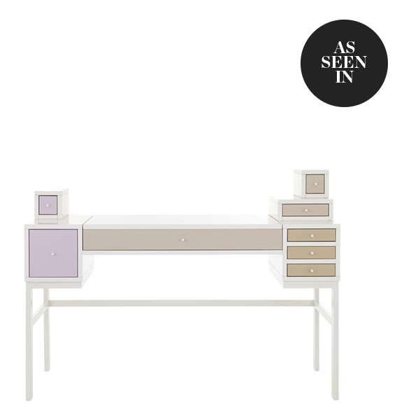 Schönbuch Collect Make-up Table in Sand, Ivory and Rose