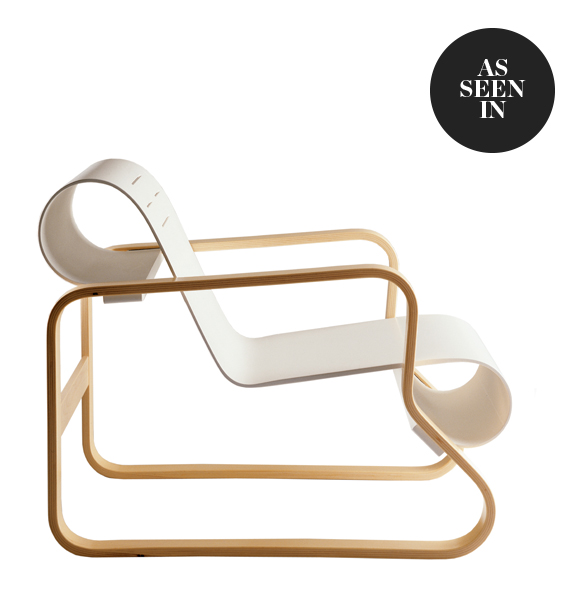 Artek 41 Paimio Armchair in White Lacquered