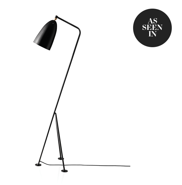Gubi Gräshoppa Floor Lamp in Jet Black