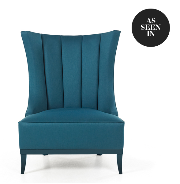 Munna Cleo Armchair in Blue Grey