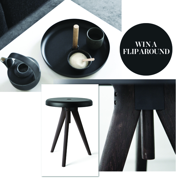Menu Flip Around Table/Stool in Dark Ash