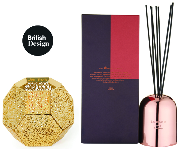 Tom Dixon Etch Tea Light Holder and Scent London Diffuser