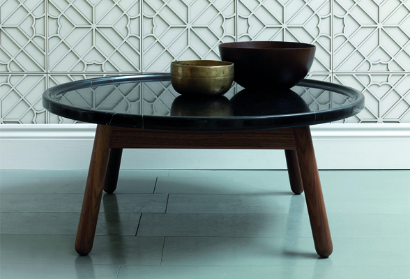 GandT by Bethan Gray Carve Coffee Table Round Walnut