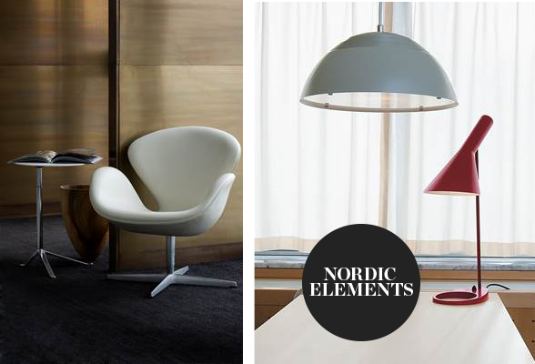 Fritz Hansen Swan Lounge Chair Leather and Louis Poulsen AJ Table Lamp