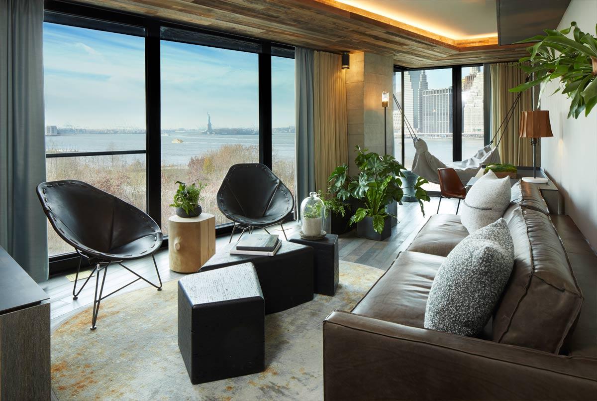 Interior of a hotel room at 1 Hotel, Brooklyn.jpg