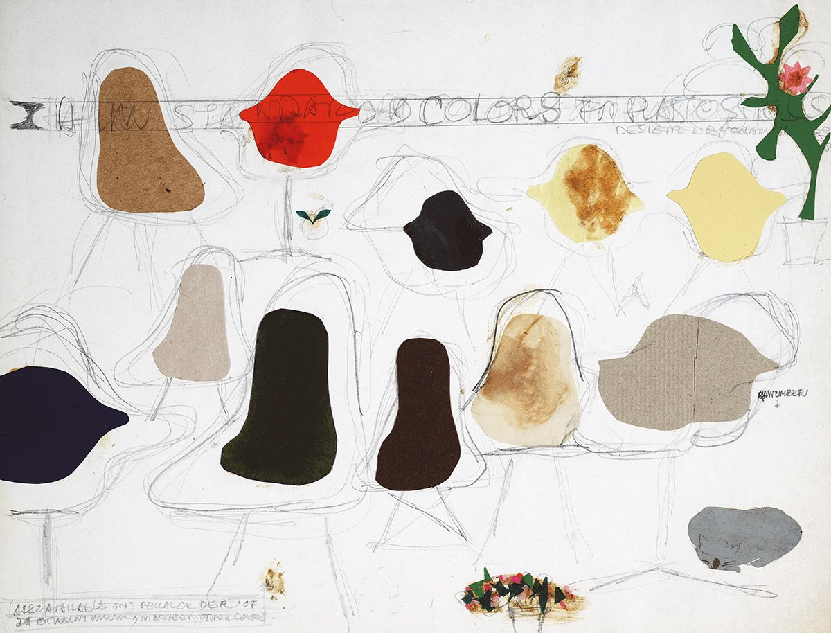 Vintage sketches of the Eames Shell Chairs