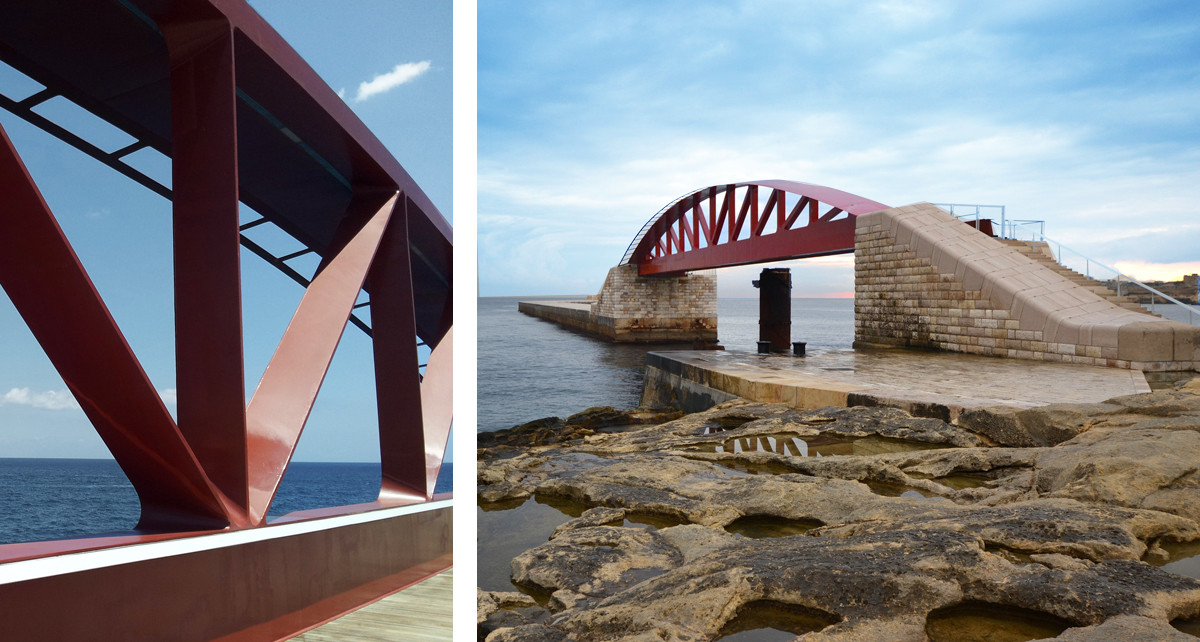 St Elmo Breakwater Bridge, Malta.jpg