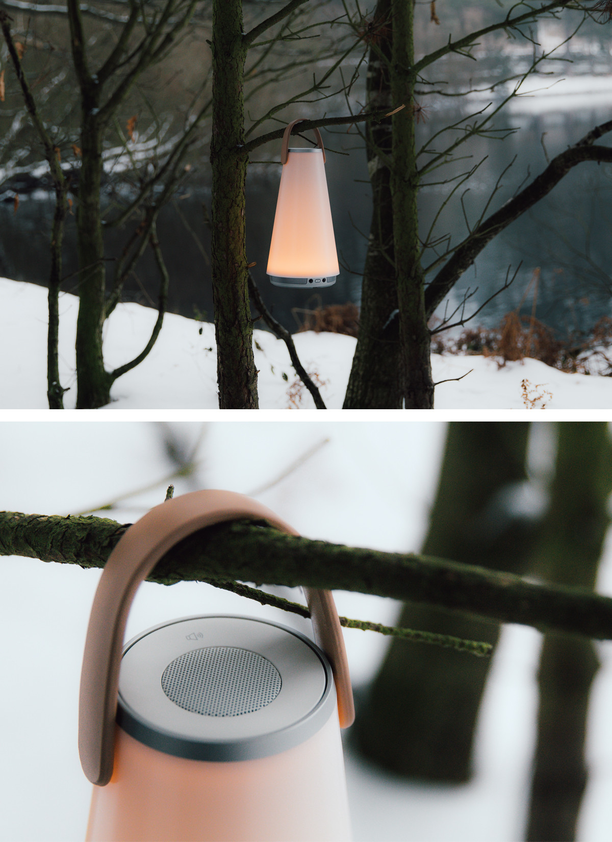 A weekend with Pablo's Sound Lantern – Hanging in outdoor setting.jpg