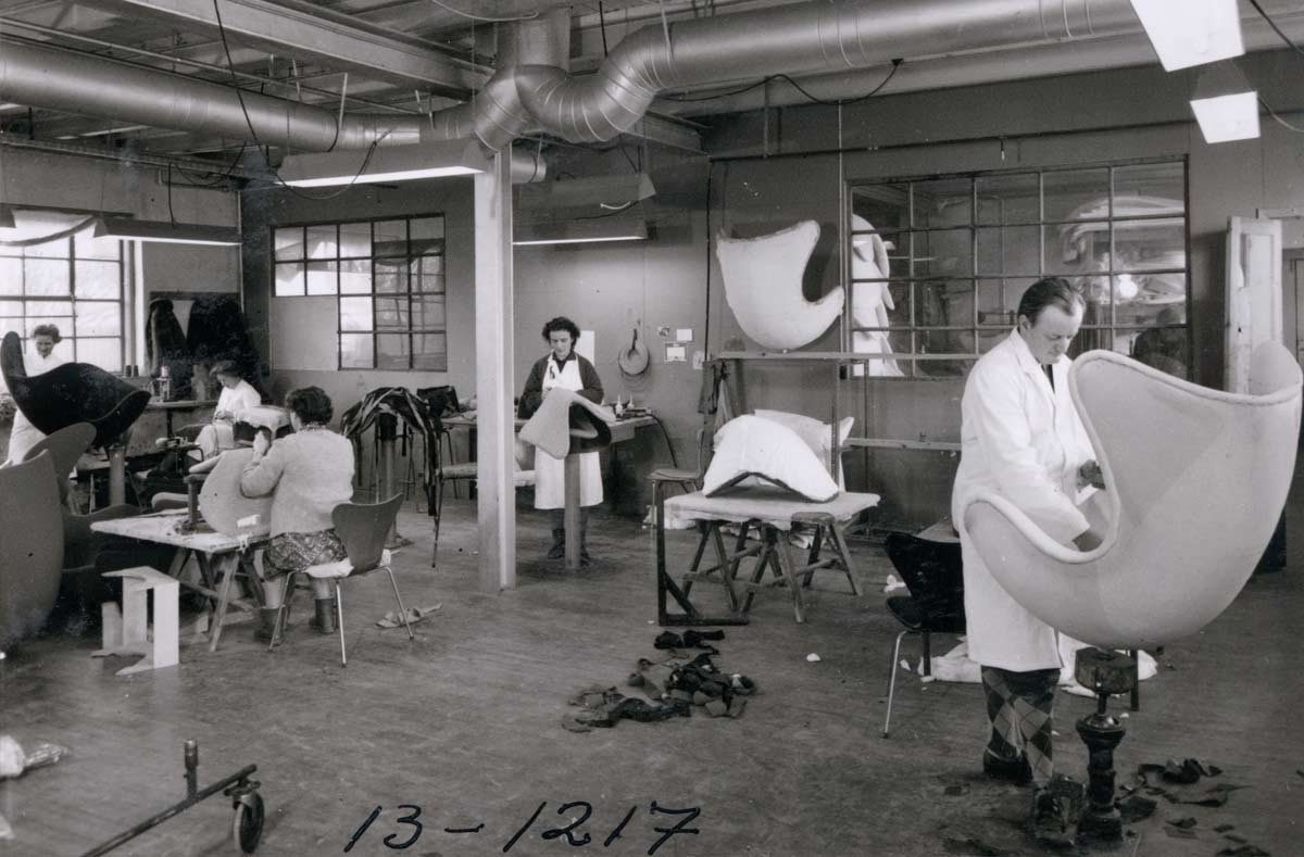 Making the Egg Chair in the Danish factory