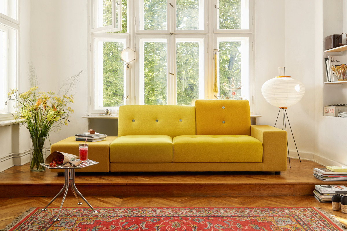 Vitra Polder Sofa in Golden Yellow