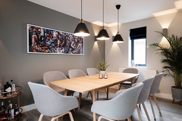 HAY AAC 123 Chairs and the Case Dulwich Dining Table in a modern dining room