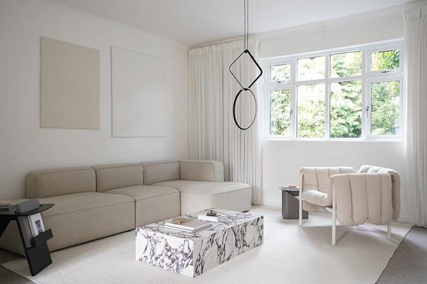 Hali Mason's minimal living room