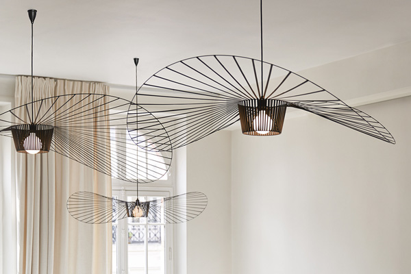 Cluster of 3 Petite Friture Pendant Vertigo Lights