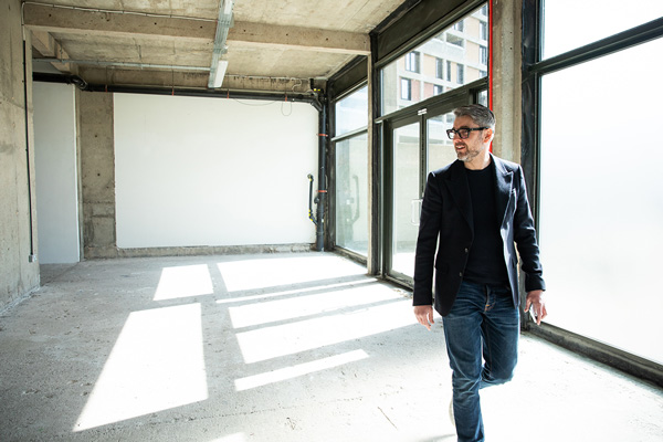 Nest CEO Christian Hawley inside the empty Scottish Queen unit at Park Hill