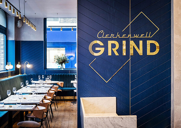 Dining inside the Clerkenwell Grind
