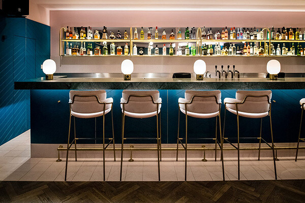 Bar interior at the Clerkenwell Grind