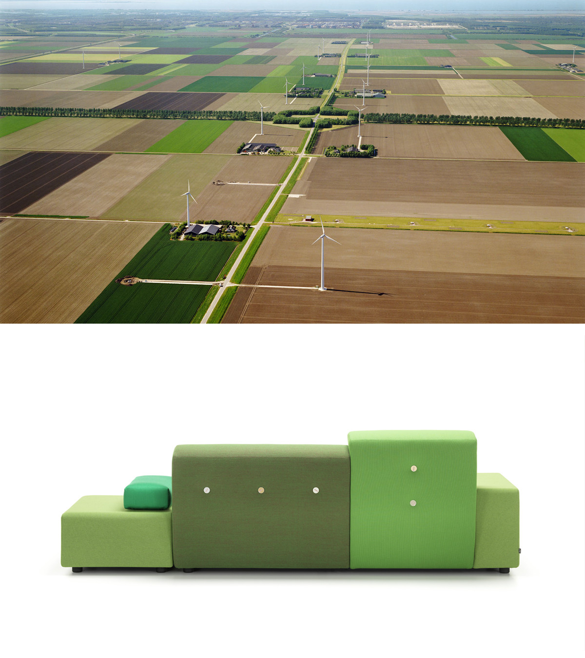 The Vitra Polder is influenced by the Dutch landscape