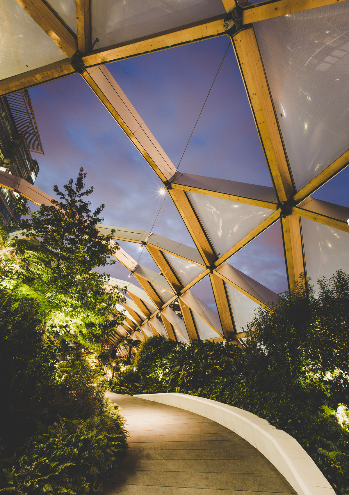 Open House London: green design in city spaces – Cross Rail Roof Garden Interior by night.jpg