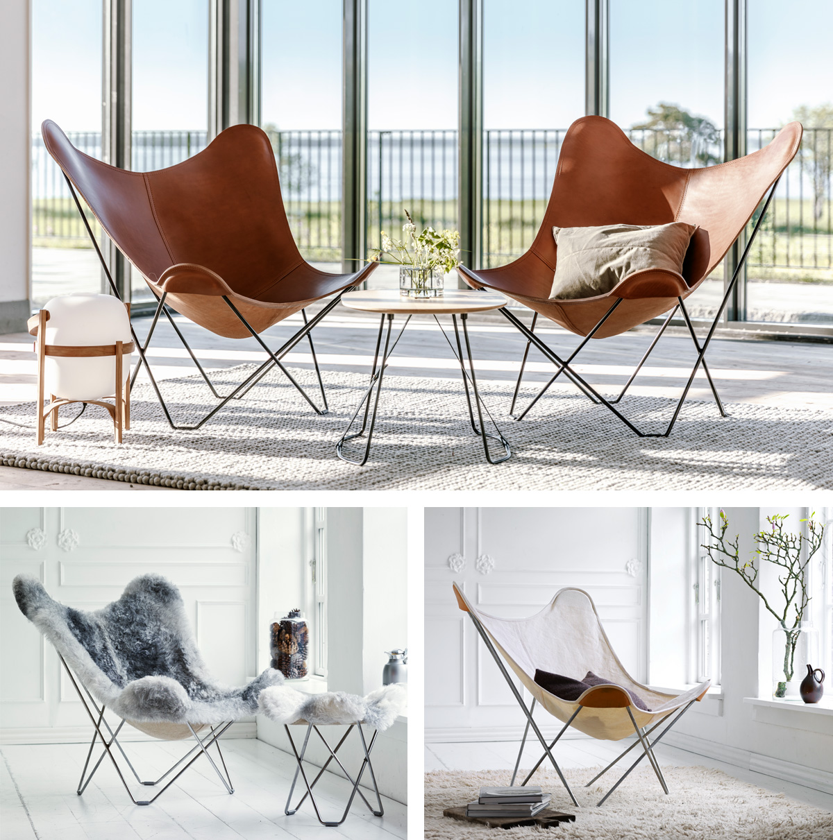 The Butterfly Chair Collection by Cuero Design