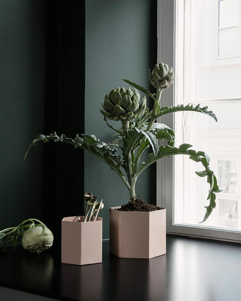 Ferm Living Hexagon Pots. In the Press: December 2017