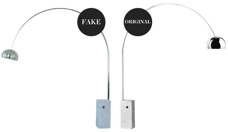 Flos Arco Lamp – Original v Fake
