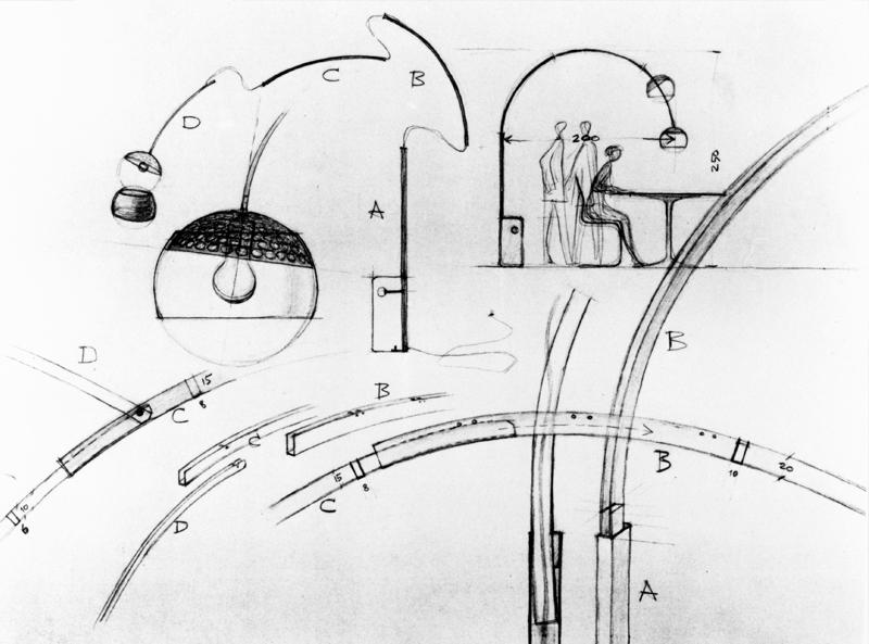 Design Icon – Flos Arco. Sketch of the design process.jpg
