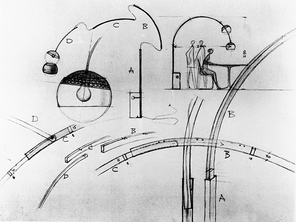 Design Sketches of the Arco Lamps