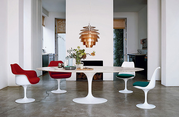 Discover The Iconic Knoll Saarinen Tulip Dining Table At