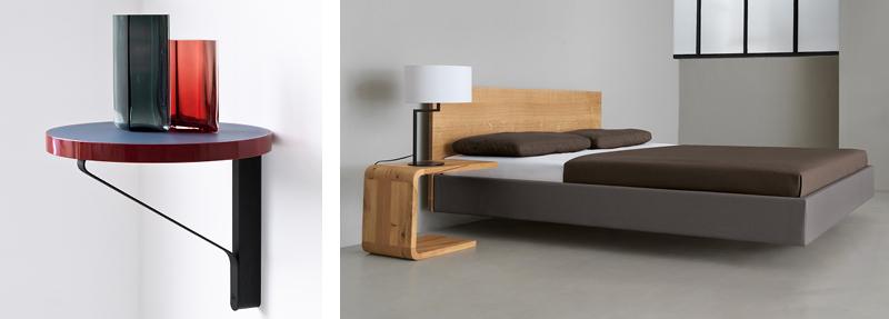 Artek REB 007 Kaari Shelf and Zeitraum Waiter Bedside Tables