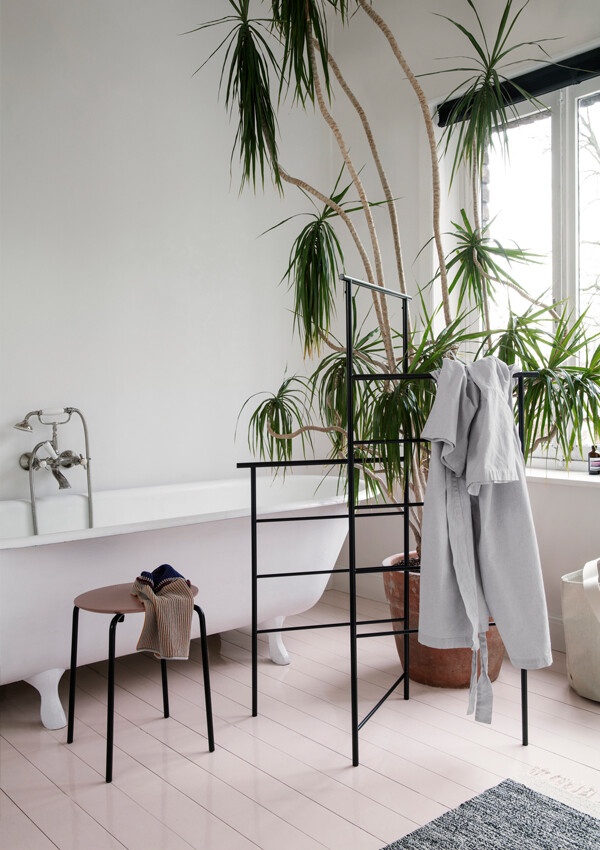 Ferm Living Dora Clothes Stand in a bathroom