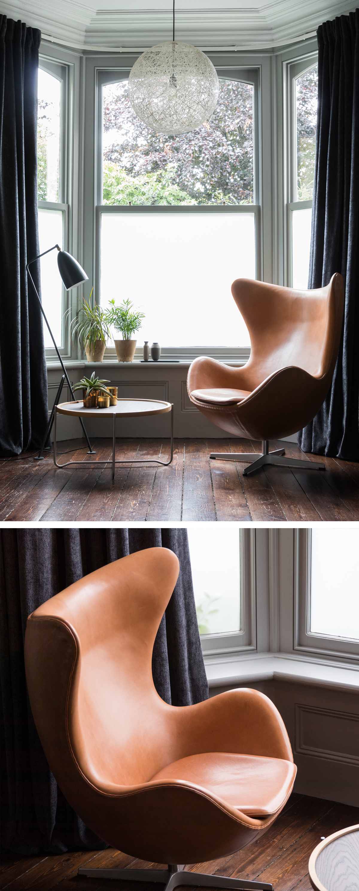 Fritz Hansen Egg Chair in Leather