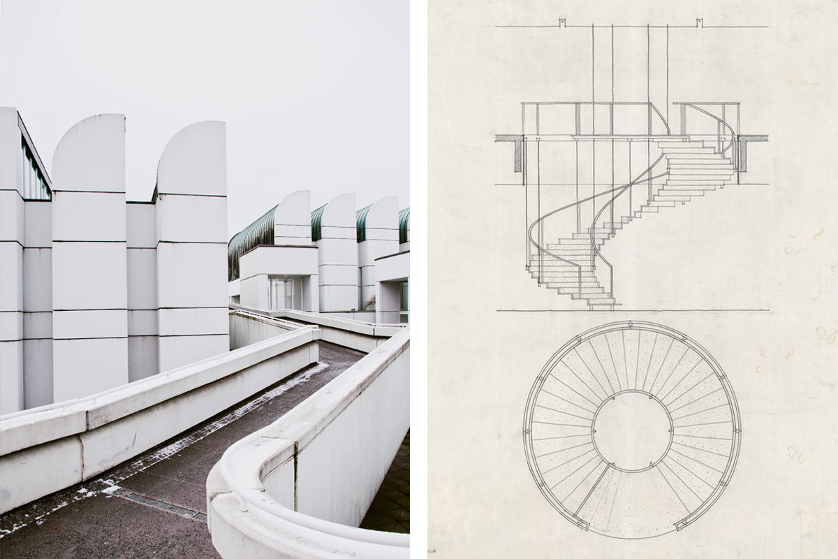 The Bauhaus museum and Arne Jacobsen's sketches