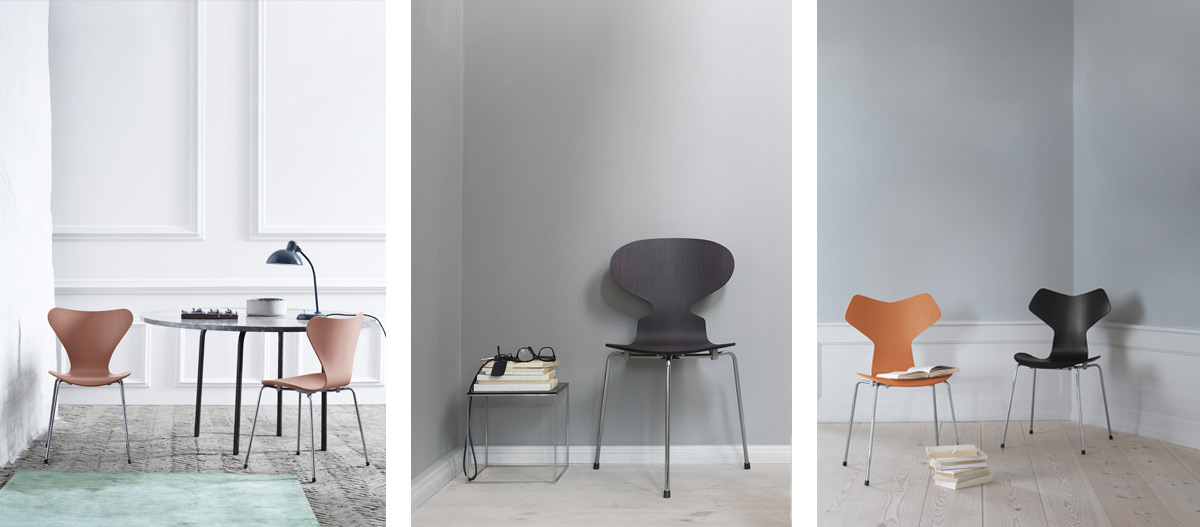 Fritz Hansen's Series 7, Ant and Grand Prix Chairs