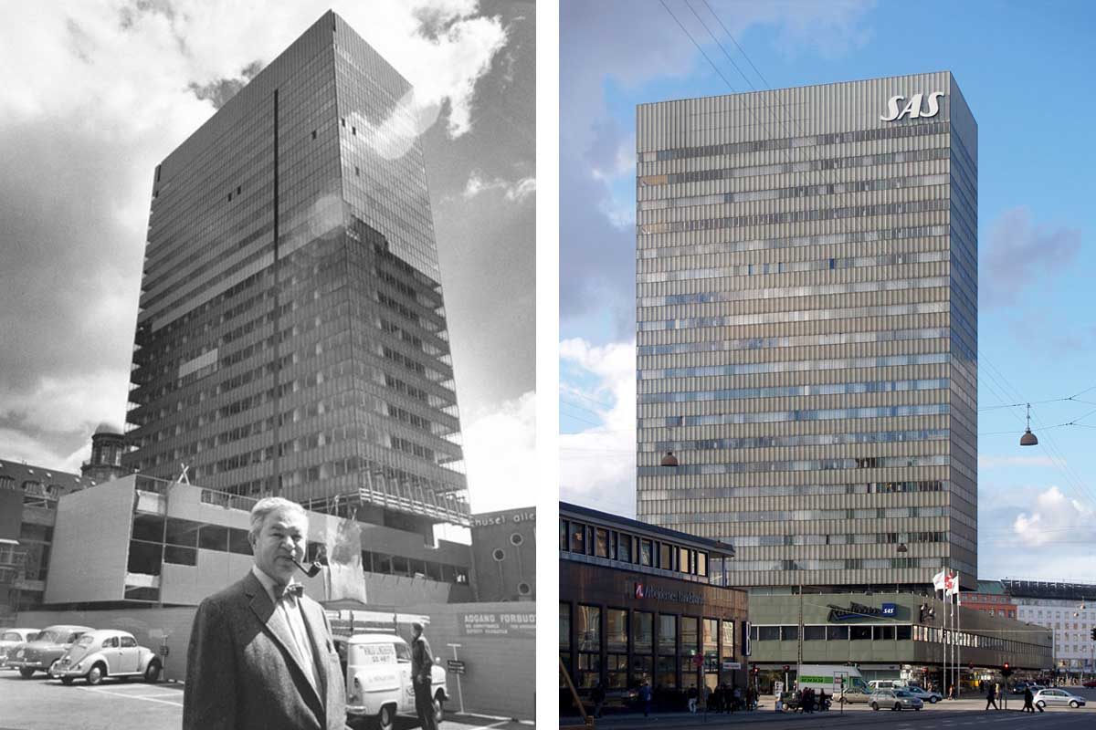 The SAS Royal Hotel then and now