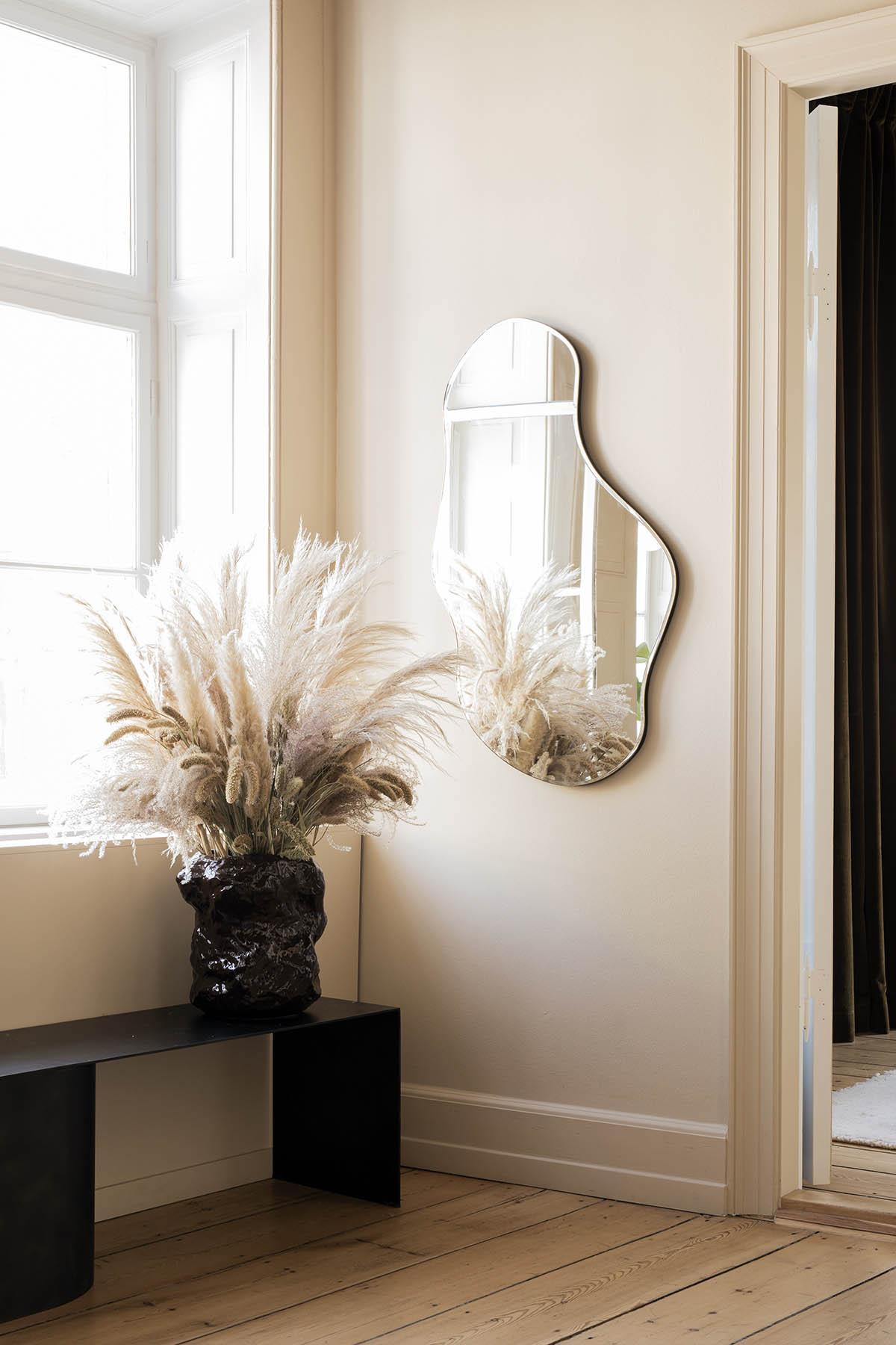 Ferm Living Pond Mirror in a minimal home