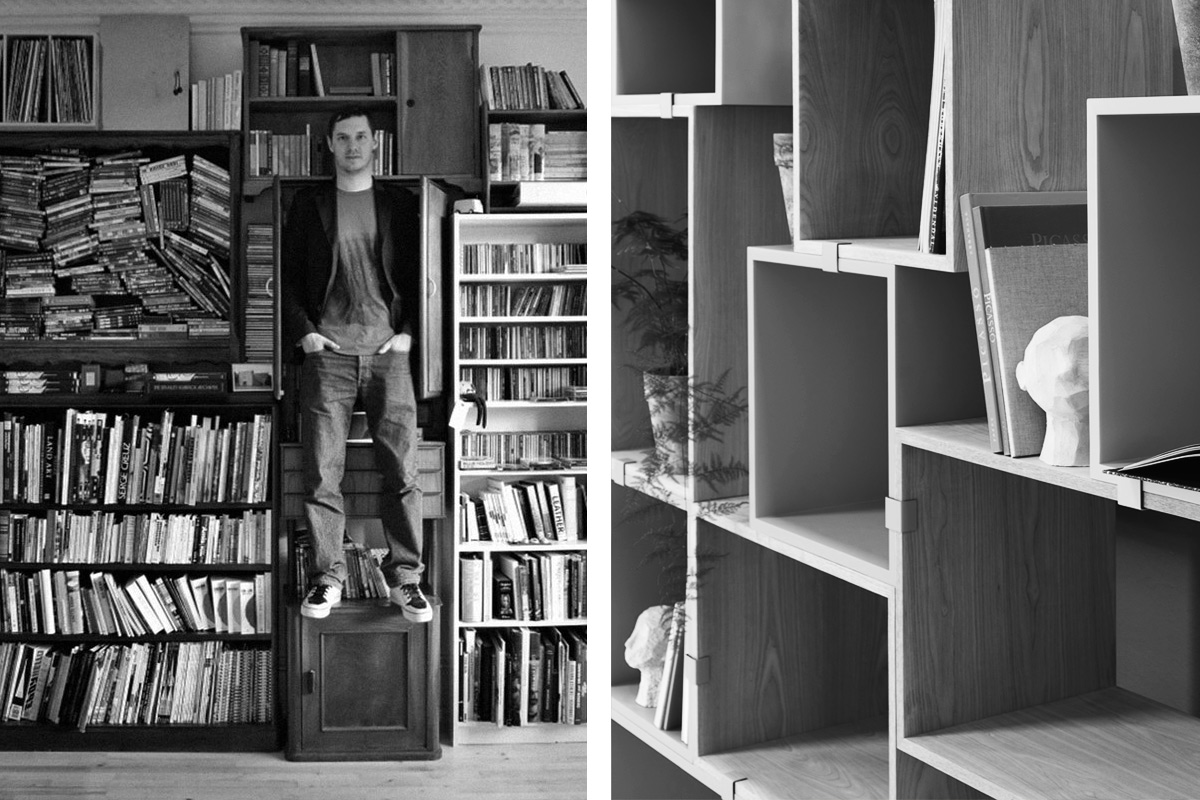 Designer Julien De Smedt with the Muuto Stacked Shelves
