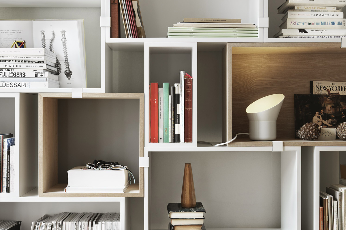 Detail of the Muuto Stacked Shelving System 2.0