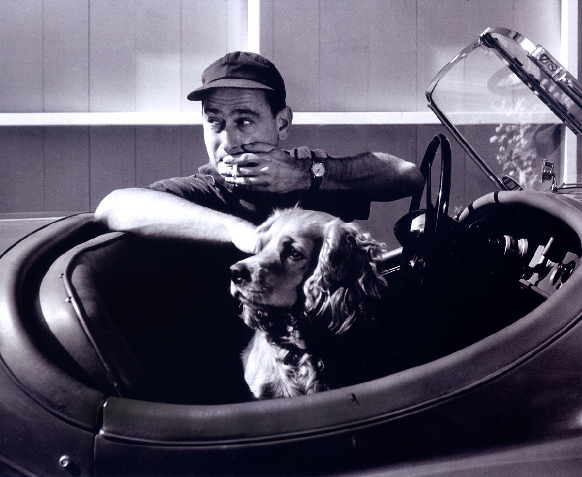 George Nelson with his dog Okay