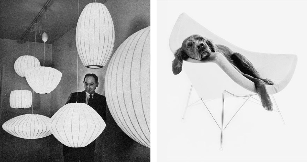 George Nelson Iconic Designs - Bubble Lamps & Coconut Chair