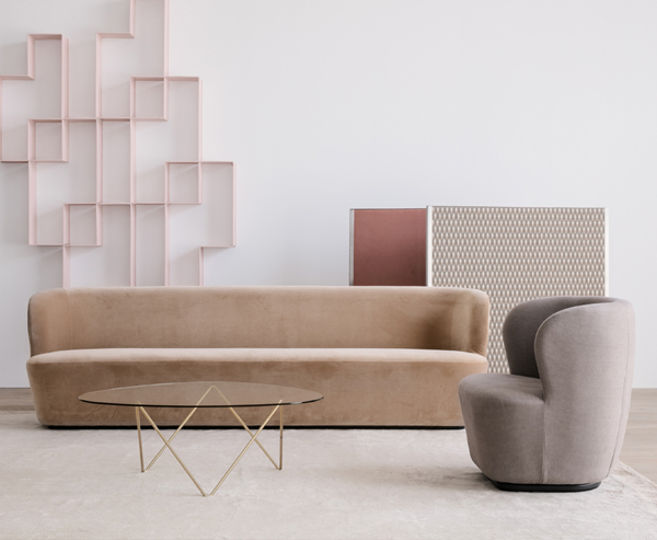 GUBI Stay 4 Seater Sofa in a neutral interior