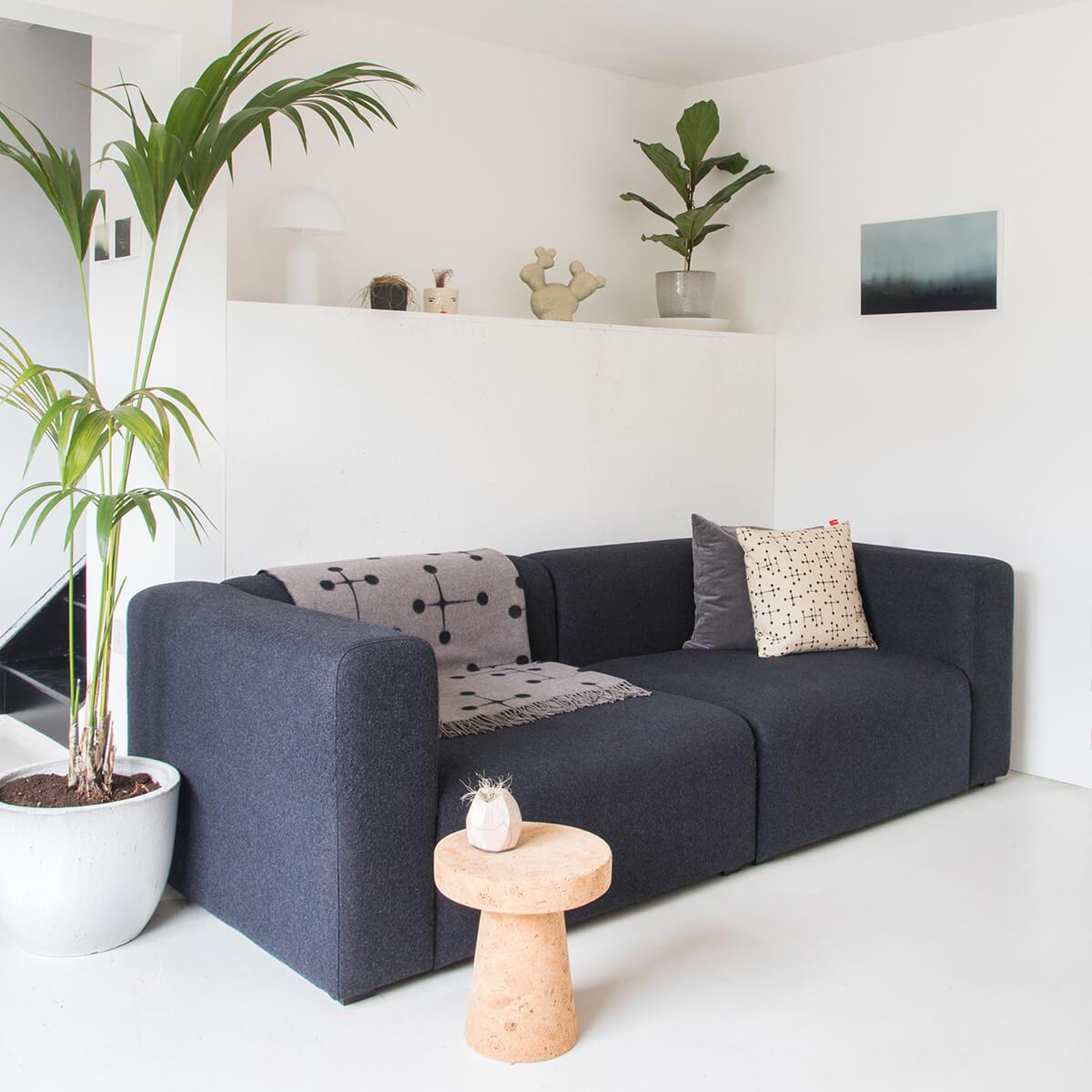 HAY Mags 2.5 Seater Sofa in dark grey fabric
