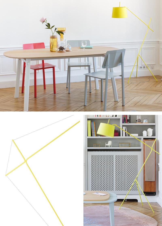 Harto Elisabeth Floor Lamp Lemon Yellow