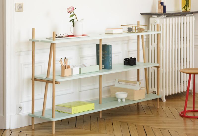 Harto Simone Bookcase – Faded Green